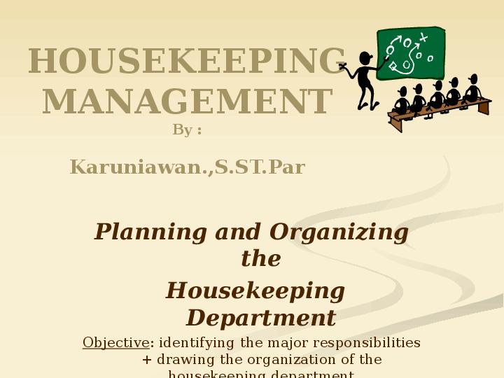 PPT) Housekeeping department of hotel | sasha putri