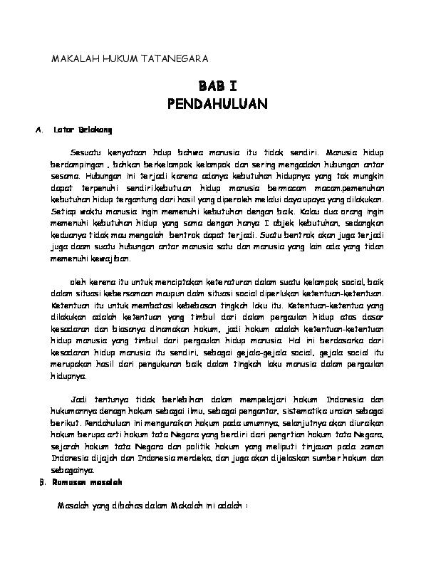 Doc Makalah Hukum Tatanegara Fredy Sukmana Academia Edu