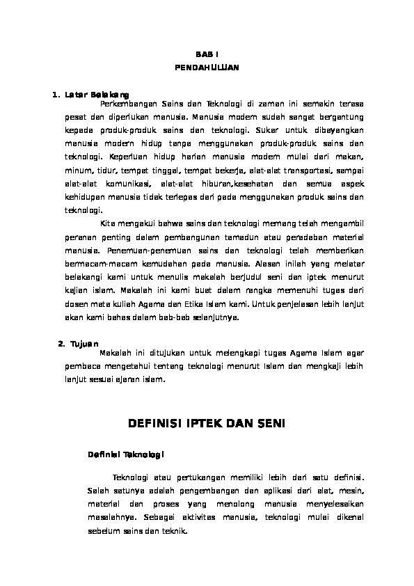 Doc Definisi Iptek Dan Seni Ema Sukmawati Academia Edu