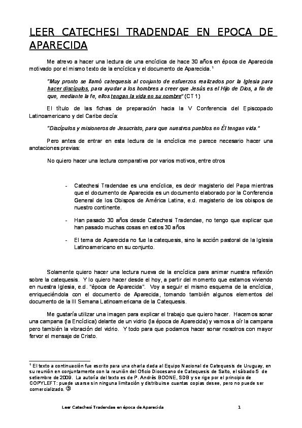 catechesi tradendae pdf