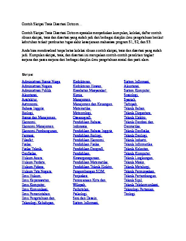 Doc Contoh Skripsi Teknik Perminyakan Olahdata Calypso Academia Edu
