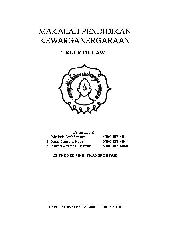 Doc Rule Of Law Di Susun Oleh Tri Suci Rohmawati Academia Edu