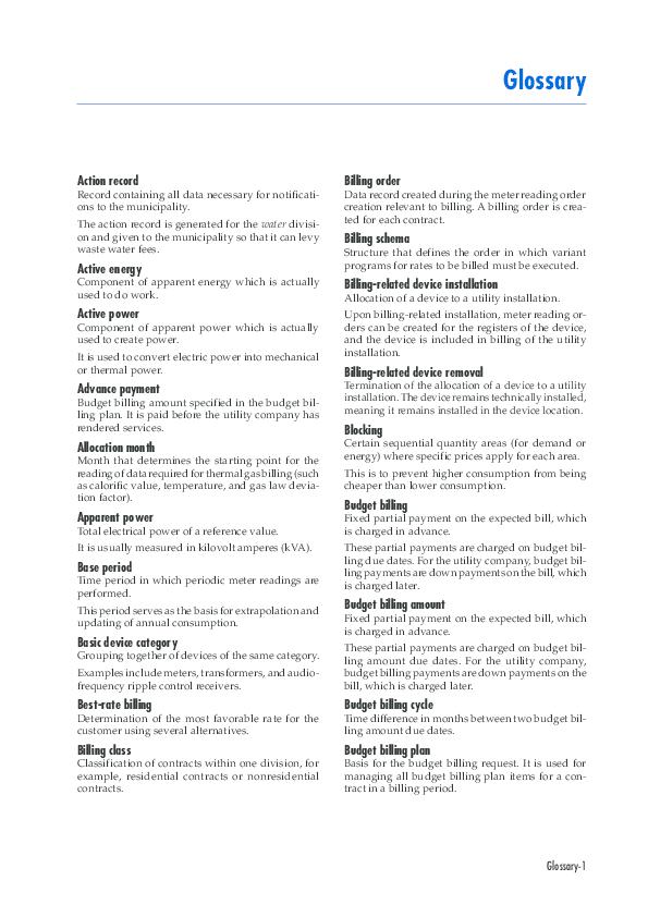 PDF) Functions in Detail - SAP Utilities | S Ghosh