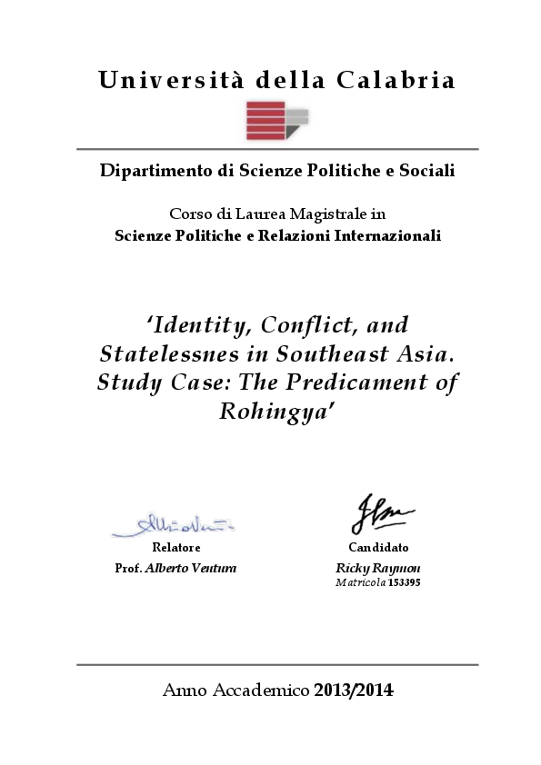 PDF) Identity, Conflict, and Statelessness in Southeast Asia