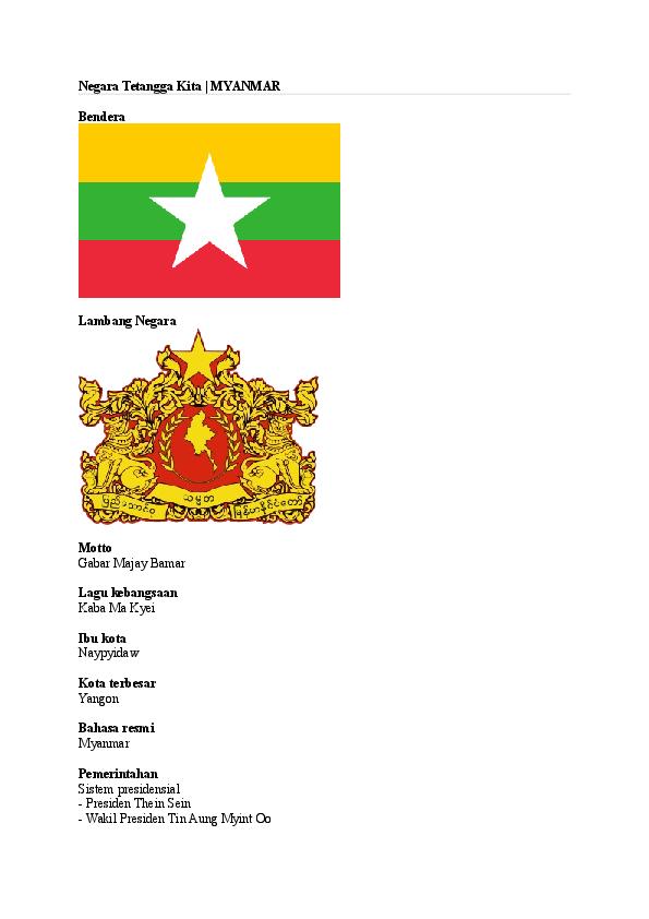 Gambar Negara Myanmar Doc Profil Negara Myanmar Alya Raisa Nadya Barabai Academia Edu