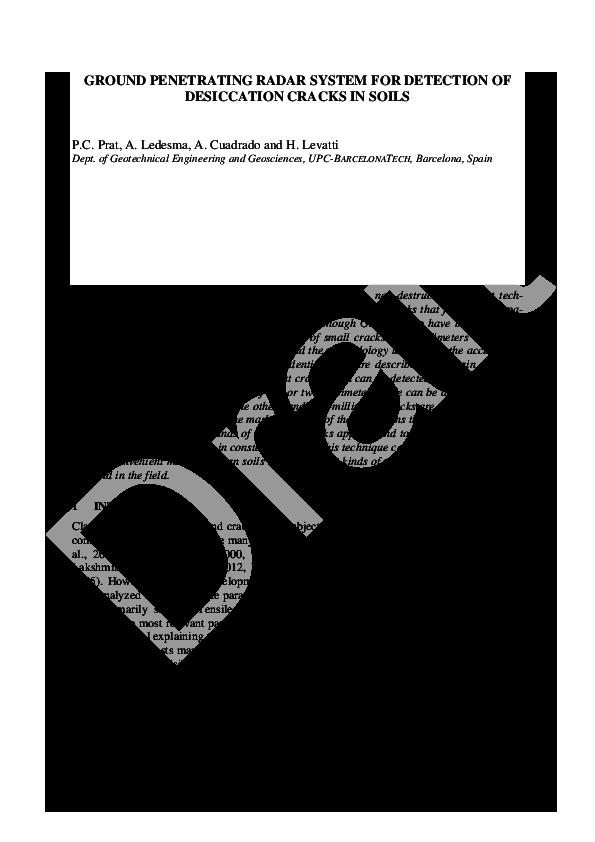 PDF) (2013) Ground penetrating radar system for detection of