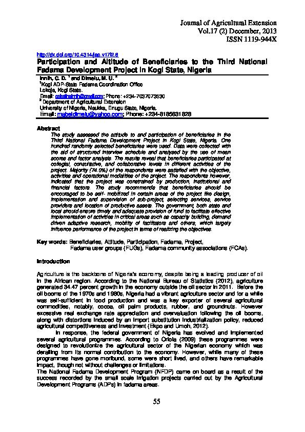 literature review on fadama iii