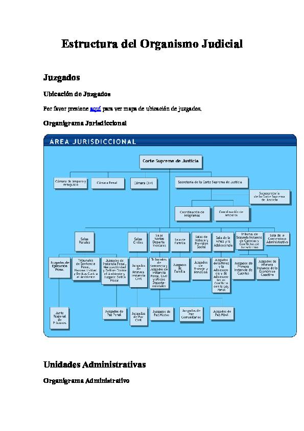 Doc Estructura Del Organismo Judicial Unidades