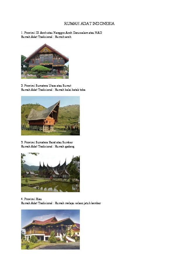 42 Koleksi Gambar Rumah Adat Beserta Asal Dan Namanya HD Terbaik