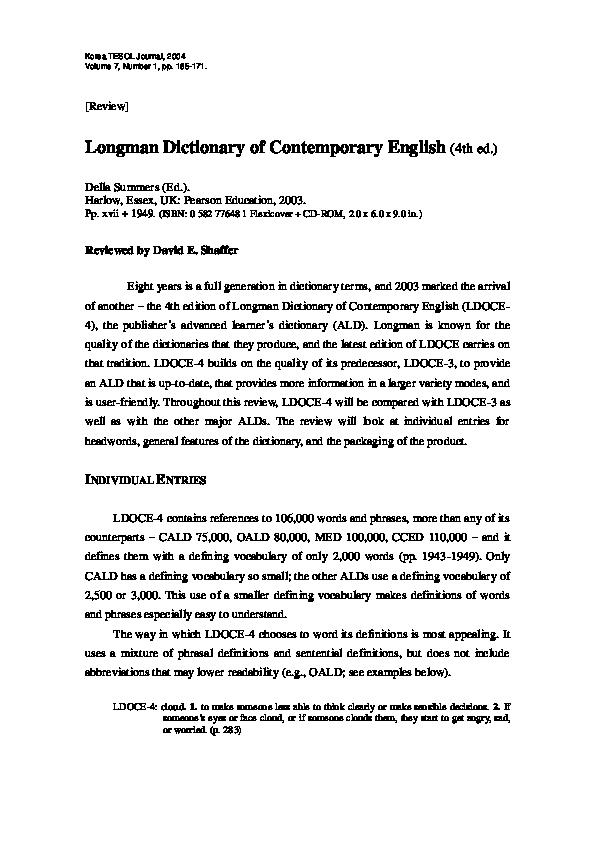 Longman Language Activator Dictionary Pdf