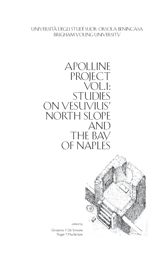 Pdf Apolline Project Vol 1 Studies On Vesuvius North Slope And