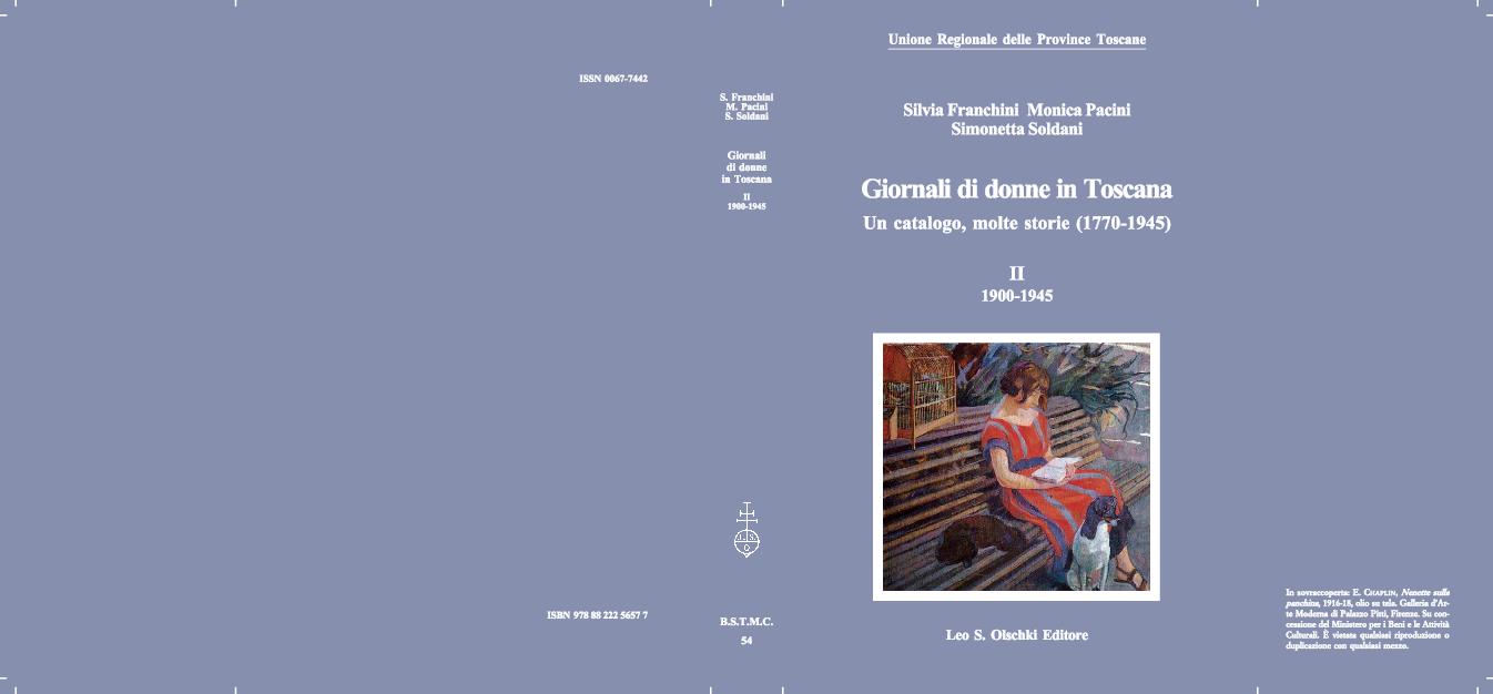pretty nice 9b374 3d665 PDF) Giornali di donne in Toscana. Un catalogo, molte storie (1770 ...