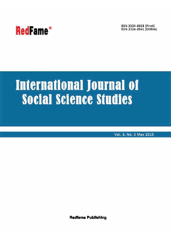 PDF) International Journal of Social Science Studies, Vol  3