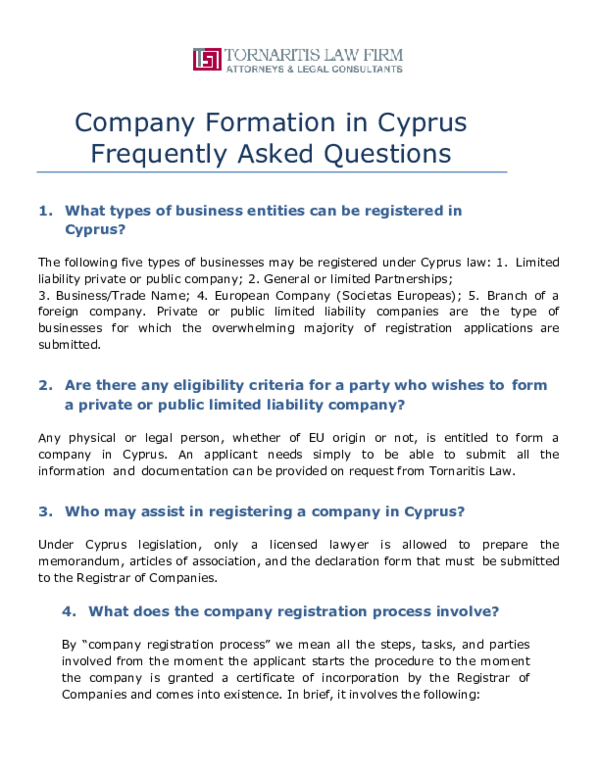 Cyprus company formation with bank account - BBCIncorp