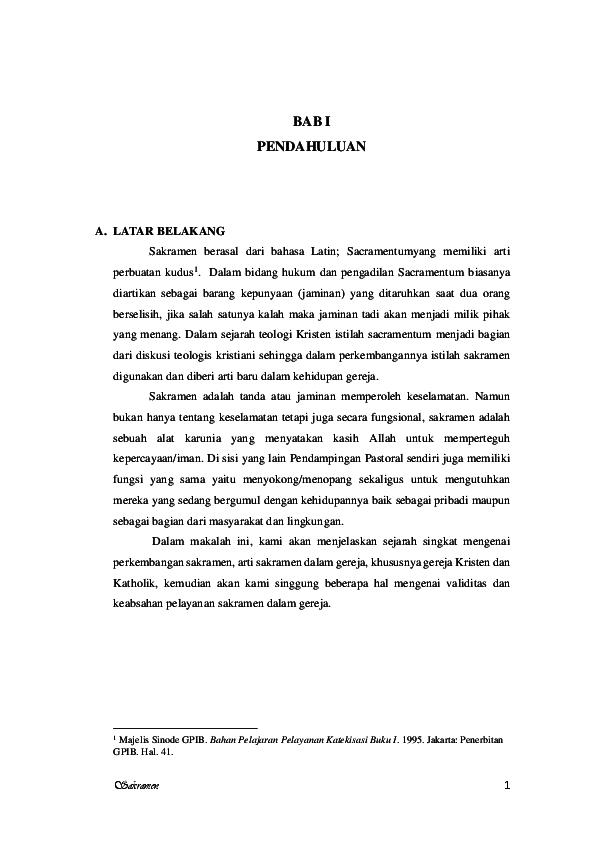 Pdf Makalah Agama Kristen Sakramen Muhammad Kholid Ismatulloh Academia Edu