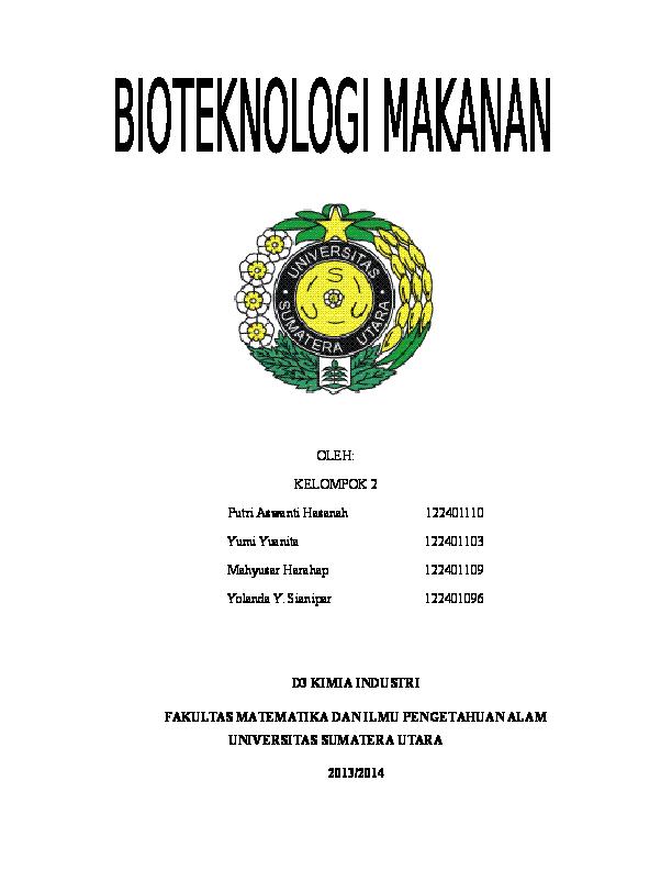 Bioteknologi Dalam Bidang Pangan Doc Pdf Download Contoh Makalah Lengkap