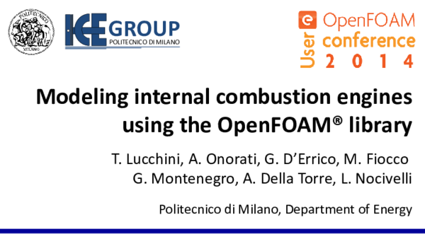 Modeling internal combustion engines using the OpenFOAM® library
