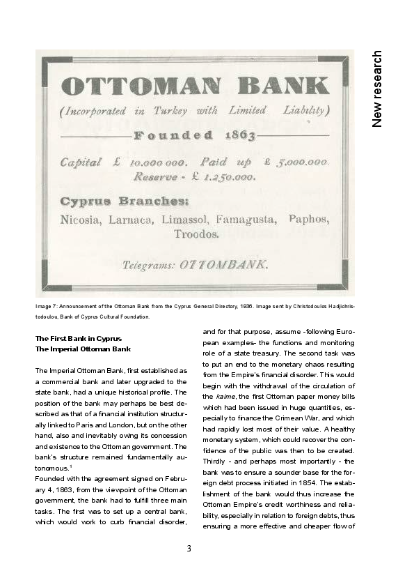 PDF) The First Bank in Cyprus: The Imperial Ottoman Bank | Lorans