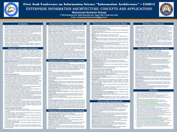 PDF) Scientific Poster: Enterprise Information Architecture