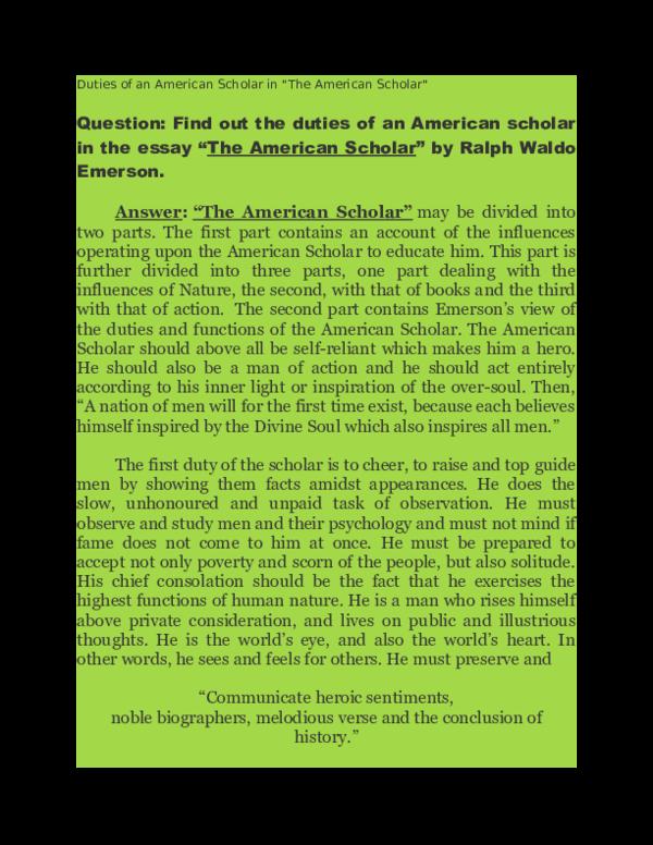 The american scholar essay essay on lala lajpat rai