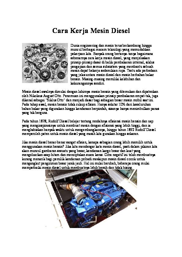 (DOC) Cara Kerja Mesin Diesel | Ari Kuswinda - Academia.edu
