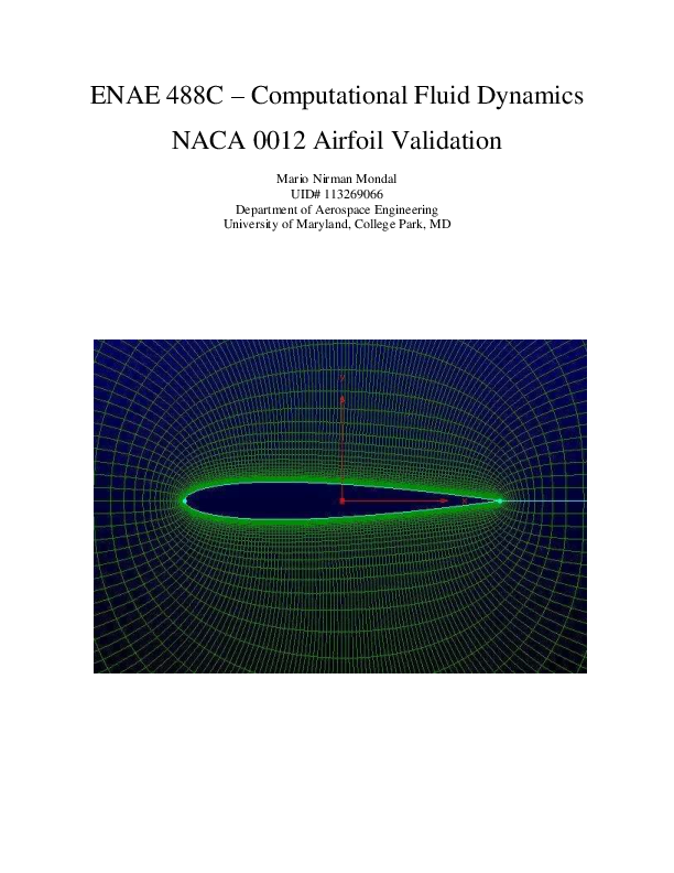 PDF) NACA 0012 Airfoil Validation | Mario Mondal - Academia edu