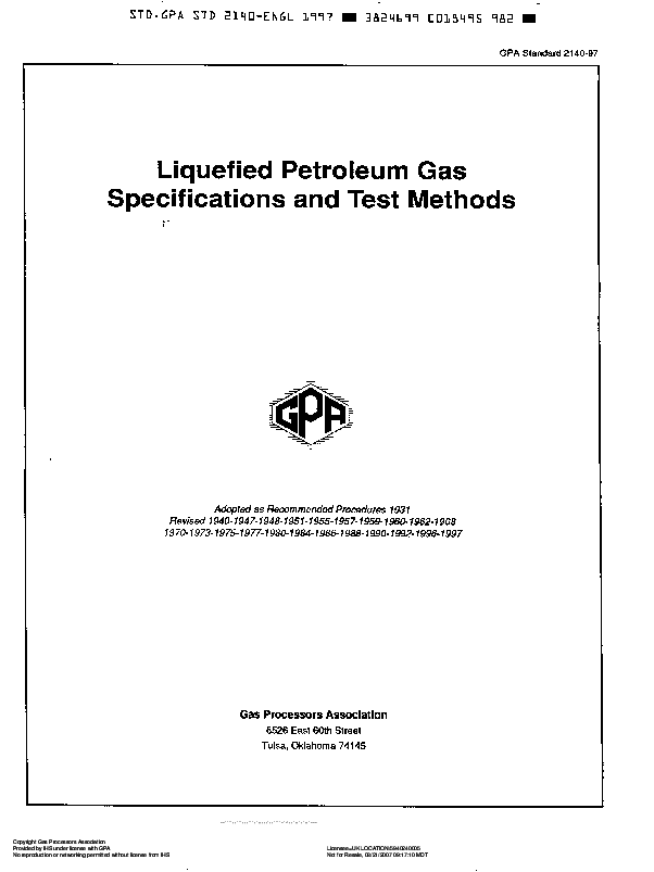 PDF) Full Standard Methods LPG Analysis NGPA 2140-97 | Lalang