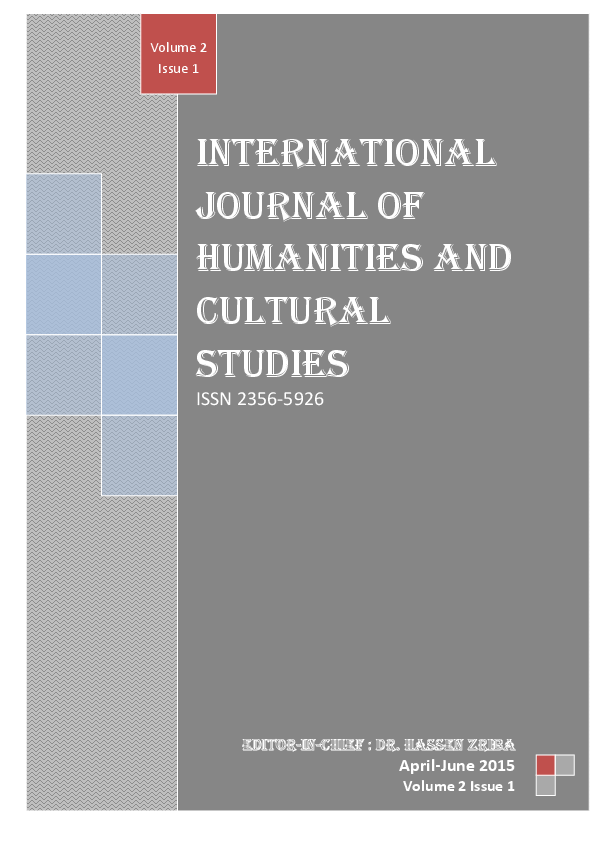 PDF) International Journal of Humanities and Cultural Studies