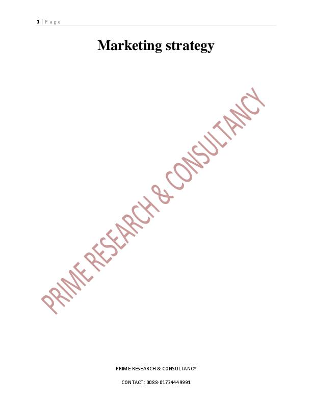 PDF) MARKETING STRATEGY | Abdul Malek Tushar - Academia edu