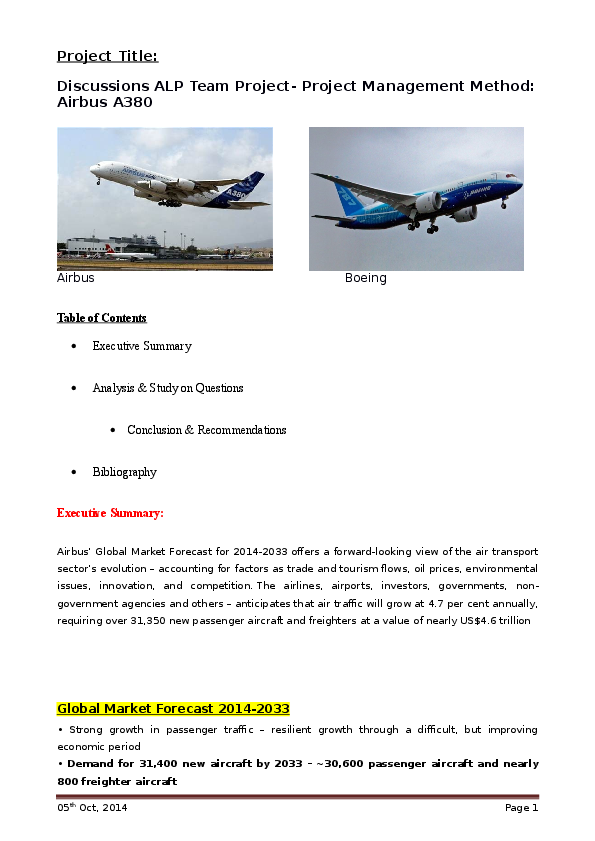DOC) Project Management Method: Airbus A380 | prashant ... on