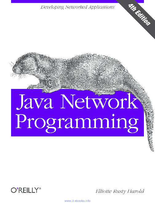 PDF) Java Network Programming, 4th Edition | wahyu prayogo