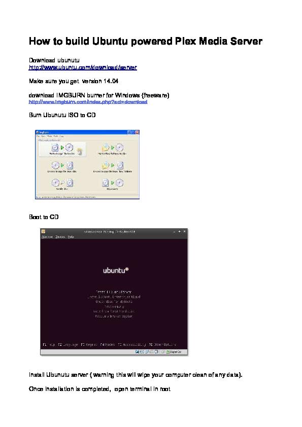 Plex Ubuntu