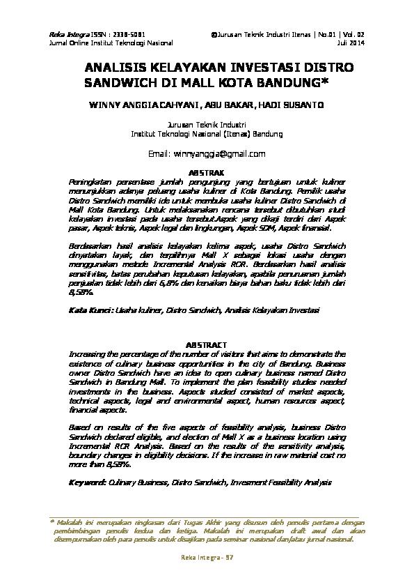 Contoh Proposal Studi Kelayakan Bisnis Distro - Berbagi ...