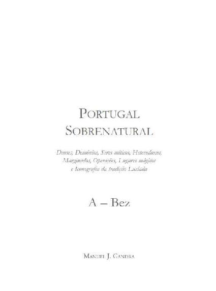 6d4d66cb03f Portugal Sobrenatural  Deuses