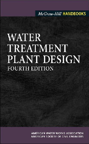 PDF) Drinking Water Treatment Plant Design 4th Edition (2004