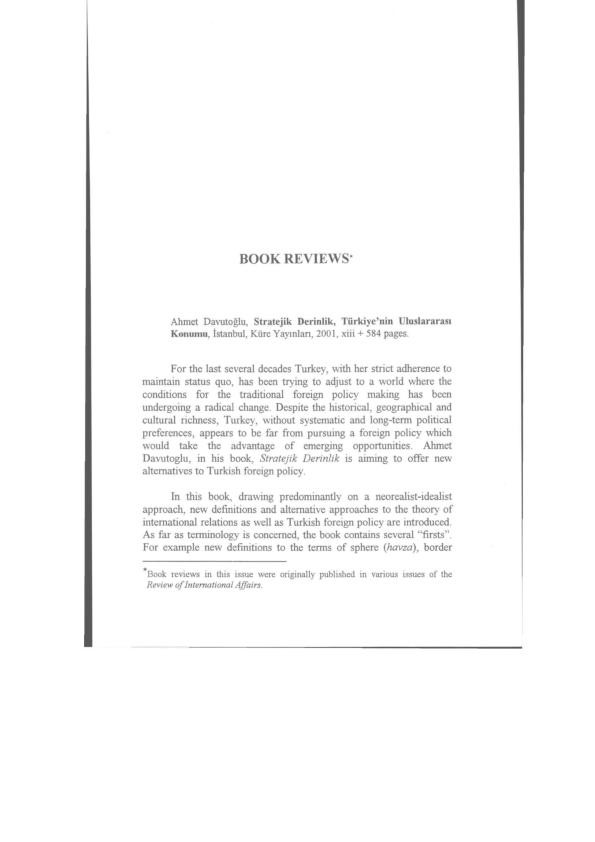book pdf davutoglu strategic depth