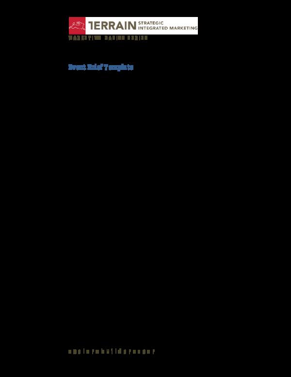 Pdf Event Brief Template Danartri Donuth Academia Edu