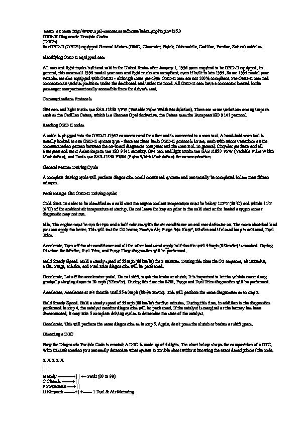 P1133 P1153 Gm
