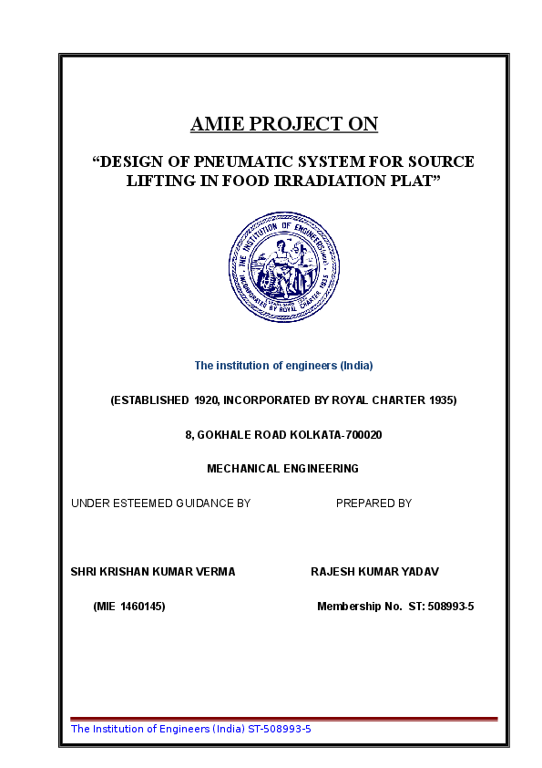 DOC) Project report modified Cover pages | Rajesh Yadav