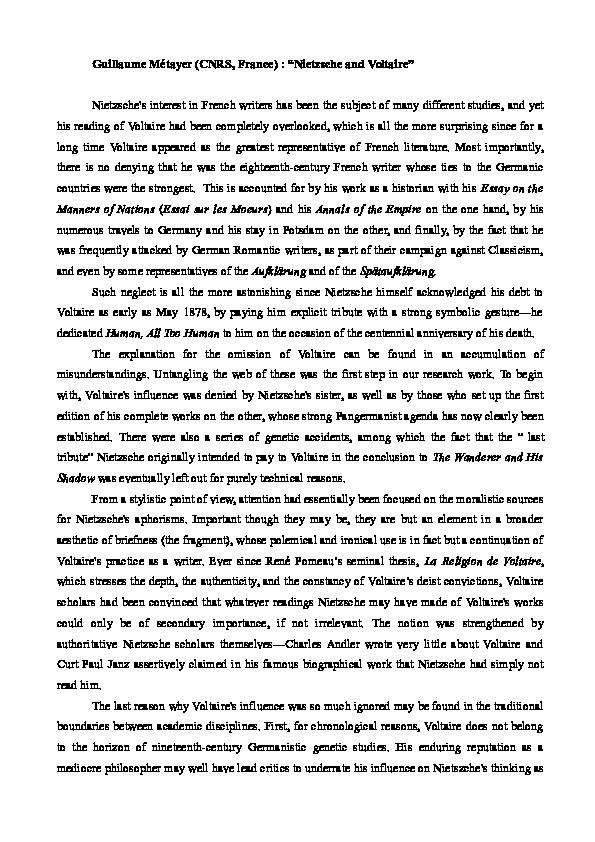 dissertation voltaire micromegas