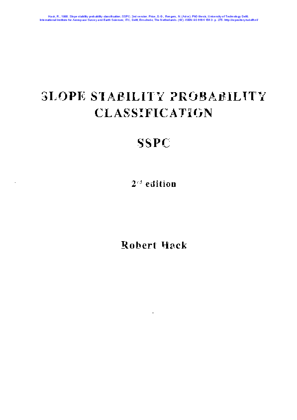PDF) Slope Stability Probability Classification