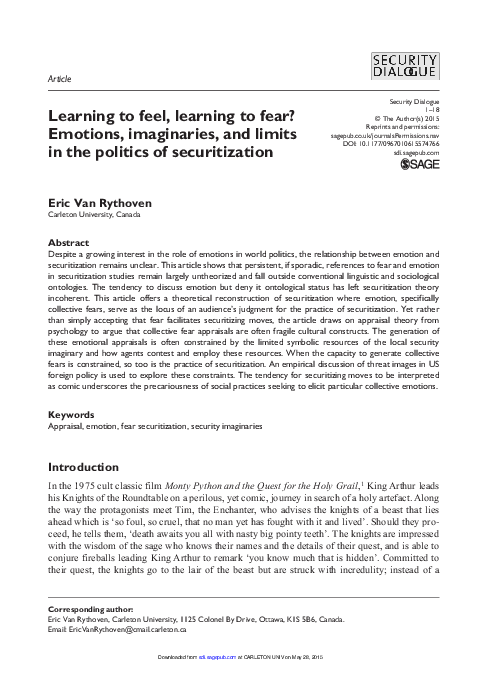 PDF) Learning to Feel, Learning to Fear? Emotions