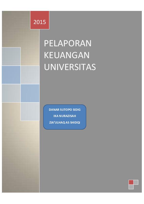 Contoh Laporan Keuangan Perguruan Tinggi Swasta Kumpulan Contoh Laporan