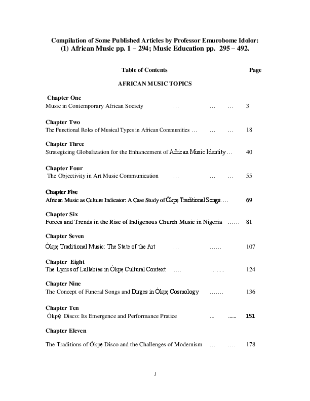 PDF) Compilation of Some Published Articles by Professor Emurobome