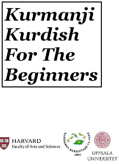 PDF) Kurmanji-kurdish for Beginners | Raperin Ekrat