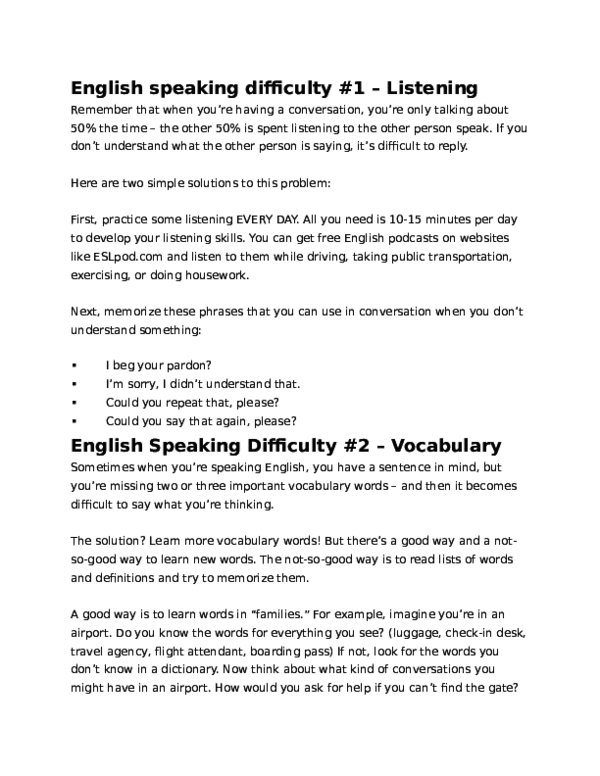 DOC) English speaking difficulty #1 – Listening | Hồng Nhung