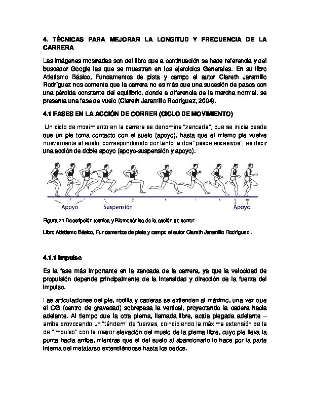 ejercicios mejorar tecnica de carrera