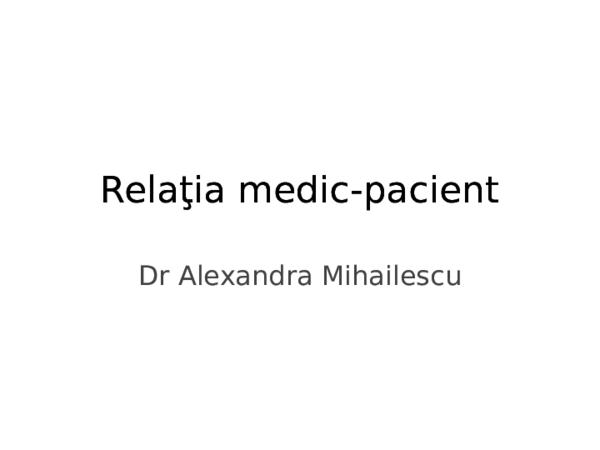 Rolul comunicării asertive în relaţia cu pacientul