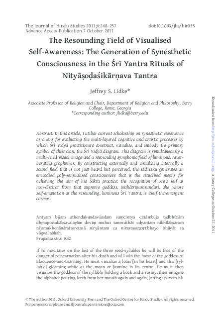 PDF) The Resounding Field of Visualised Self-Awareness: The