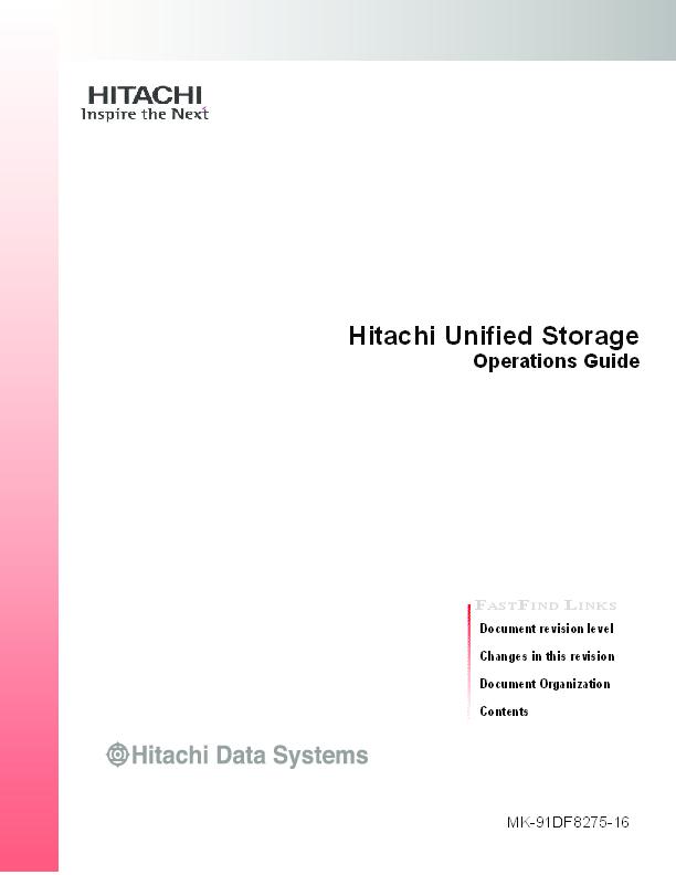 PDF) Hitachi Unified Storage - Operations Guide | amit shrivastava